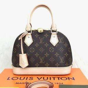 Louis Vuitton Alma BB %100 genuine leather